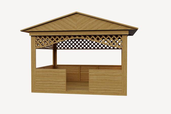 summer house 3d model max fbx 1