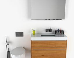 3D Corian Bathroom Set