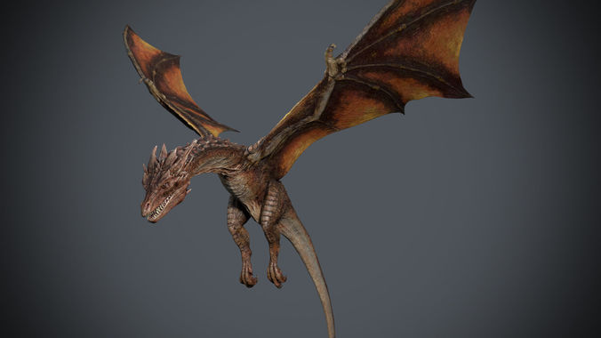 dragon-maya-animation 3d model low-poly rigged animated fbx ma mb ztl 1