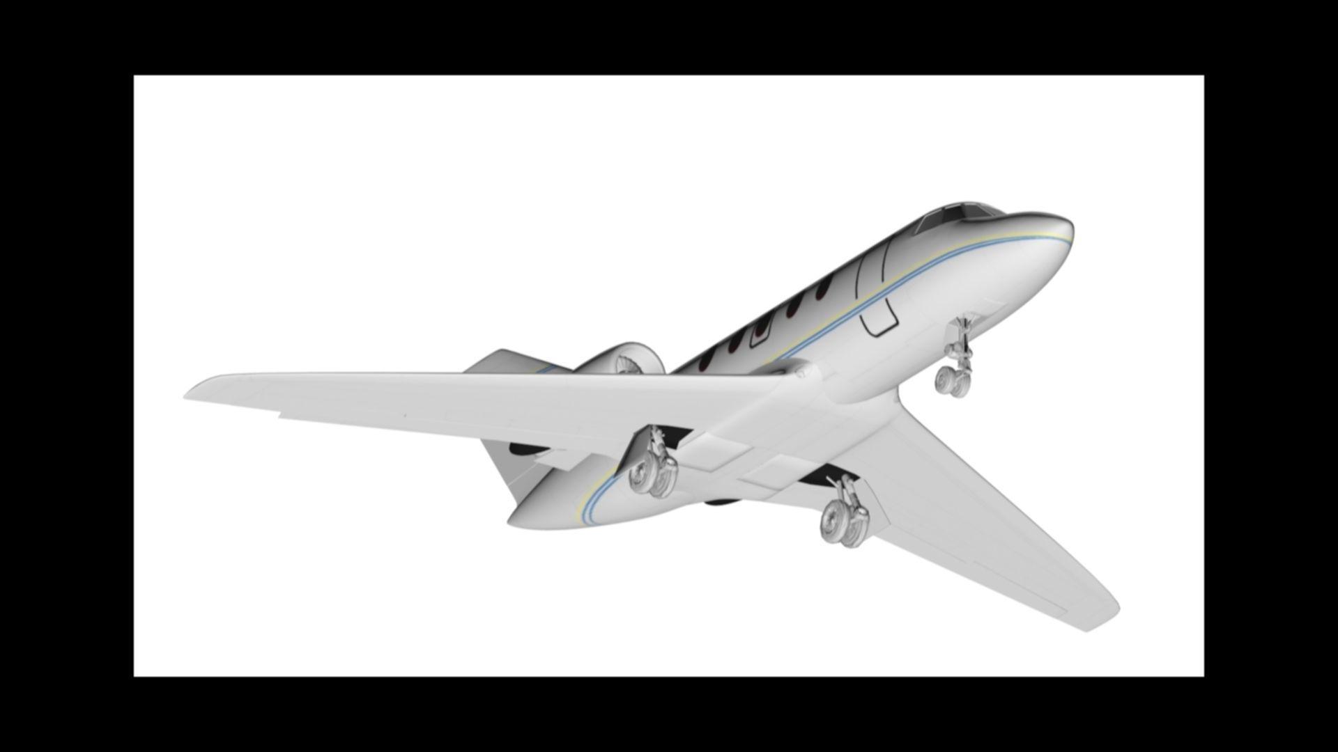 Privat Airplane Cessna Citation 3d Model