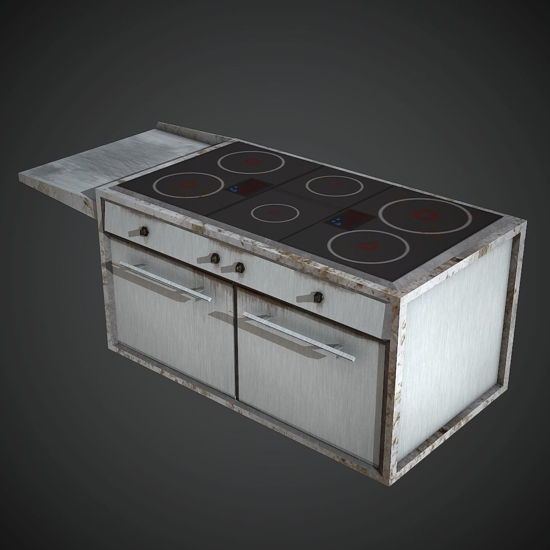Electric Stove Low Poly Mobile Ready | 3D model