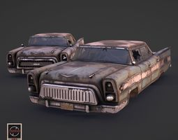 3D asset Post-Apocalyptic Retrofuturistic Car
