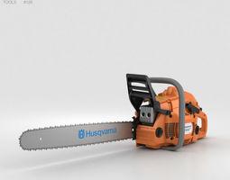 construction Husqvarna 450 Chainsaw 3D model