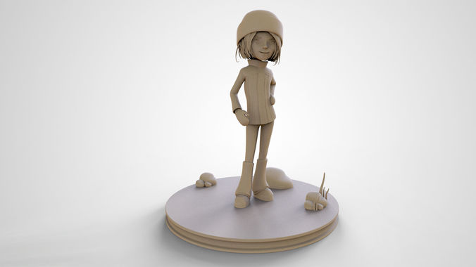 sophie cute cartoon girl 3d print high poly model 3d model obj mtl stl ztl 1