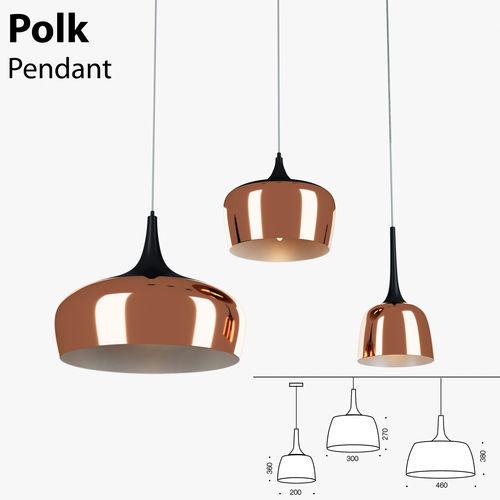 polk pendant light bronze 3d model max obj mtl mat 1