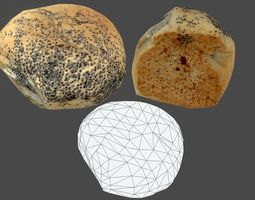 3D model Bread Bun 02 - Low Poly - Photogrammetry