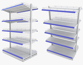 3D model Supermarket - Double Shelf