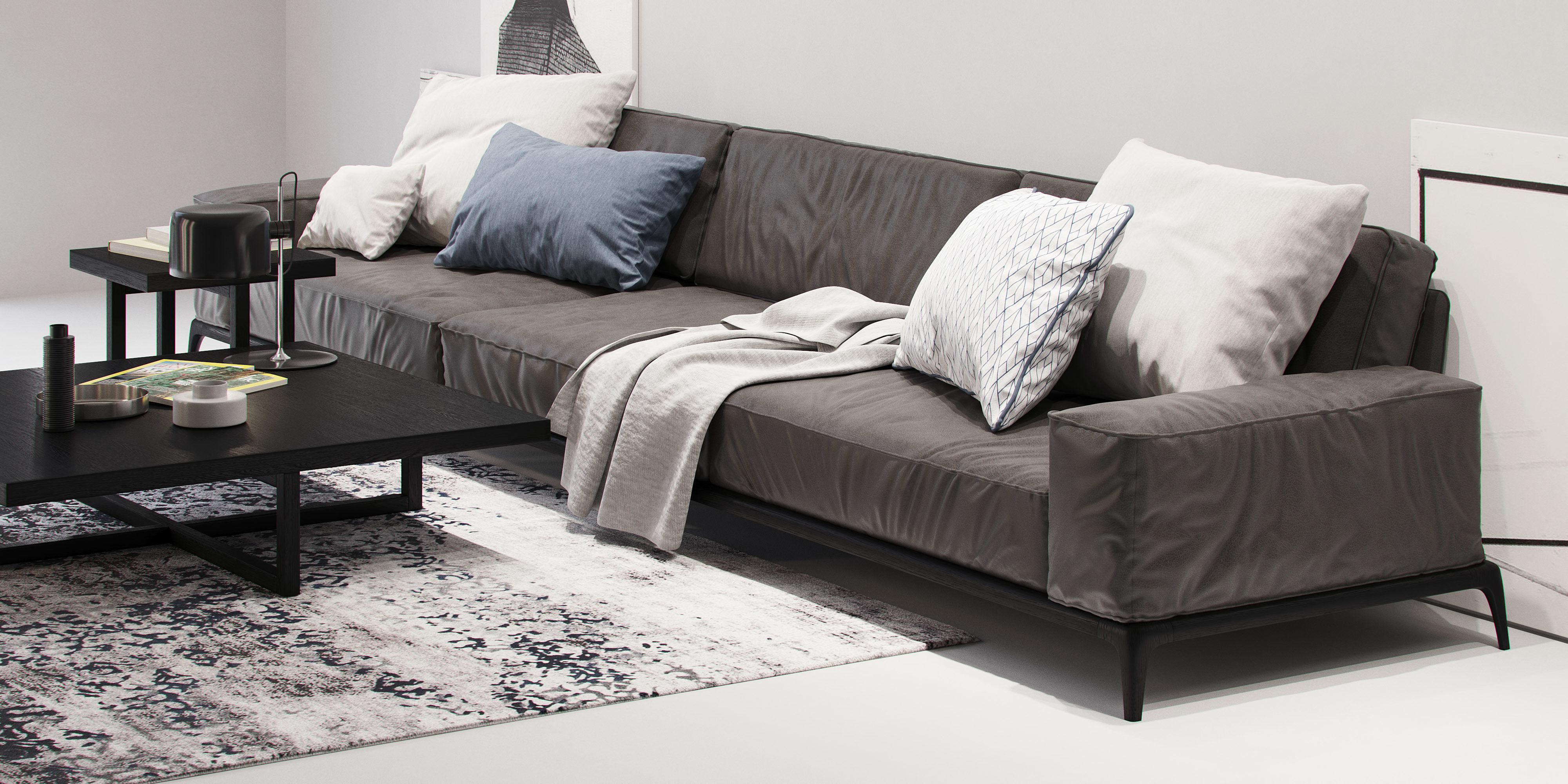 Poliform Park Sofa 2 Model Max Obj Mtl 4
