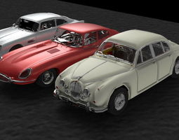 cars group 3d model