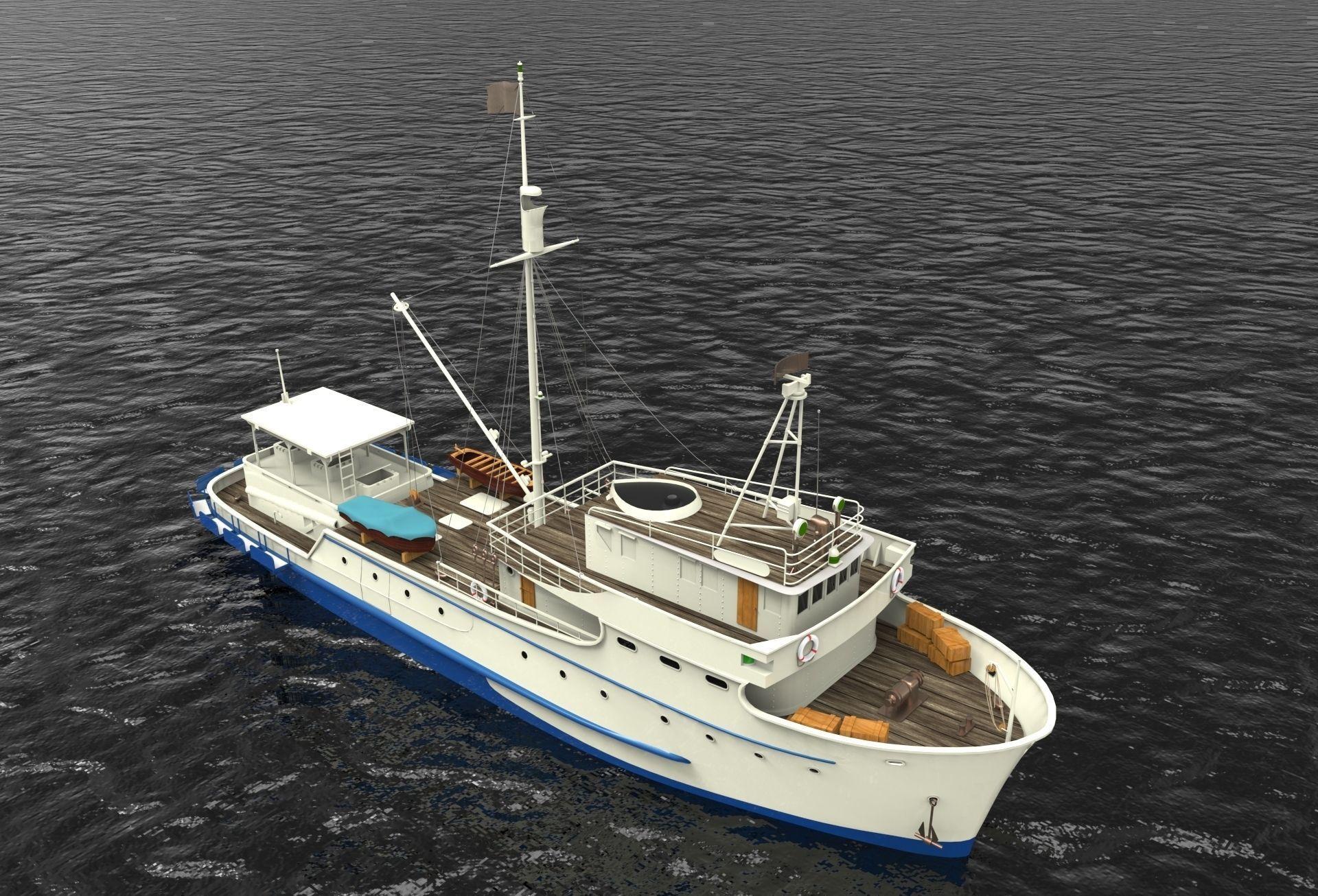 Fishing boat free 3d model 3dm for Free fishing boats