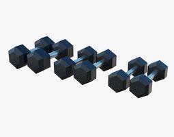 Gym Dumbbells - Low Poly 3D