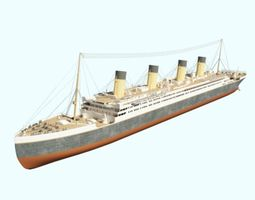 3D titanic old model