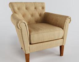 3d model armchair flexsteel azalea