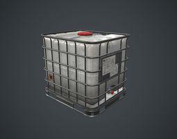 3D asset Water Plastic Tank PBR Game Ready