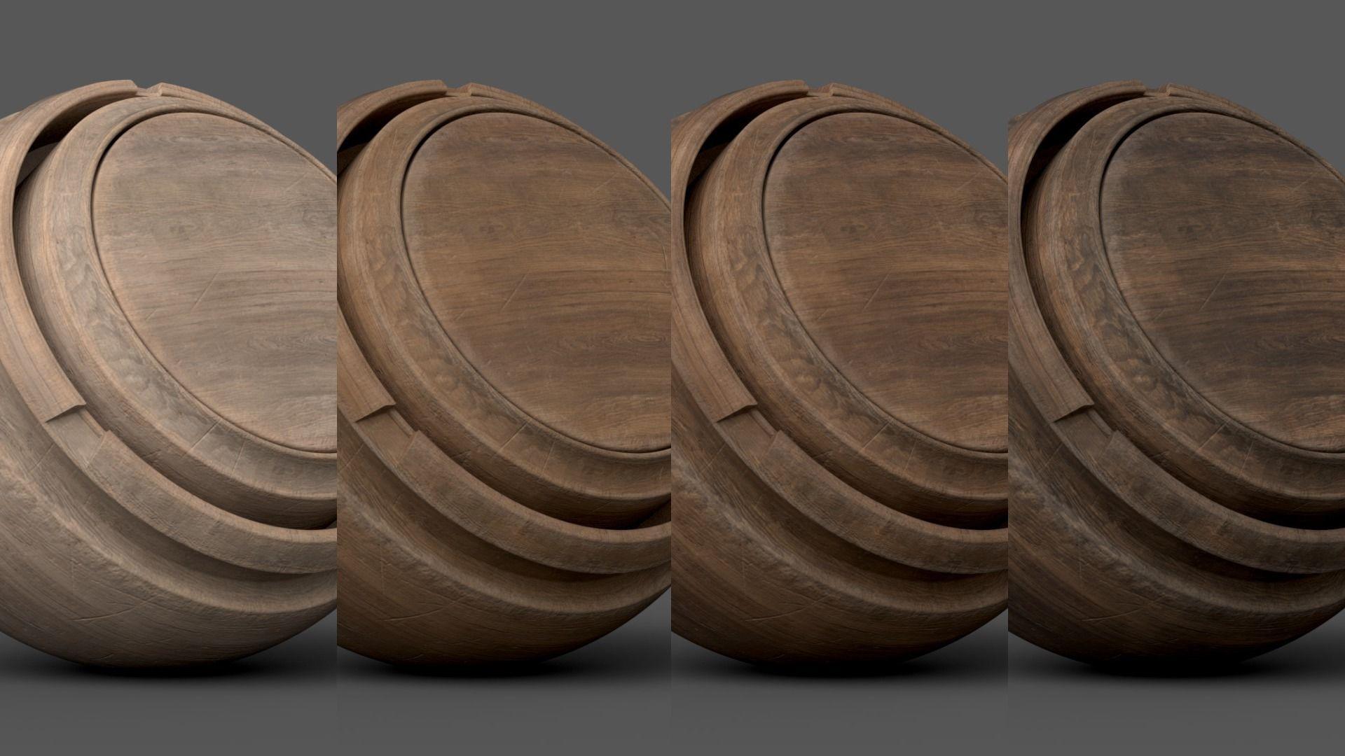 Substance Painter Wood 1 Smart Material   Texture