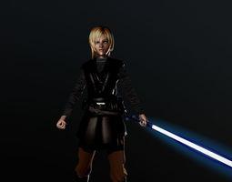 Lana jedi knight 3D model