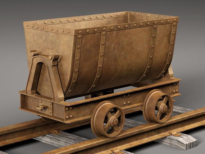 mine cart 3d model max obj mtl fbx c4d 1