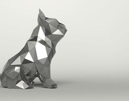 Mirror Dog Decor 3D model