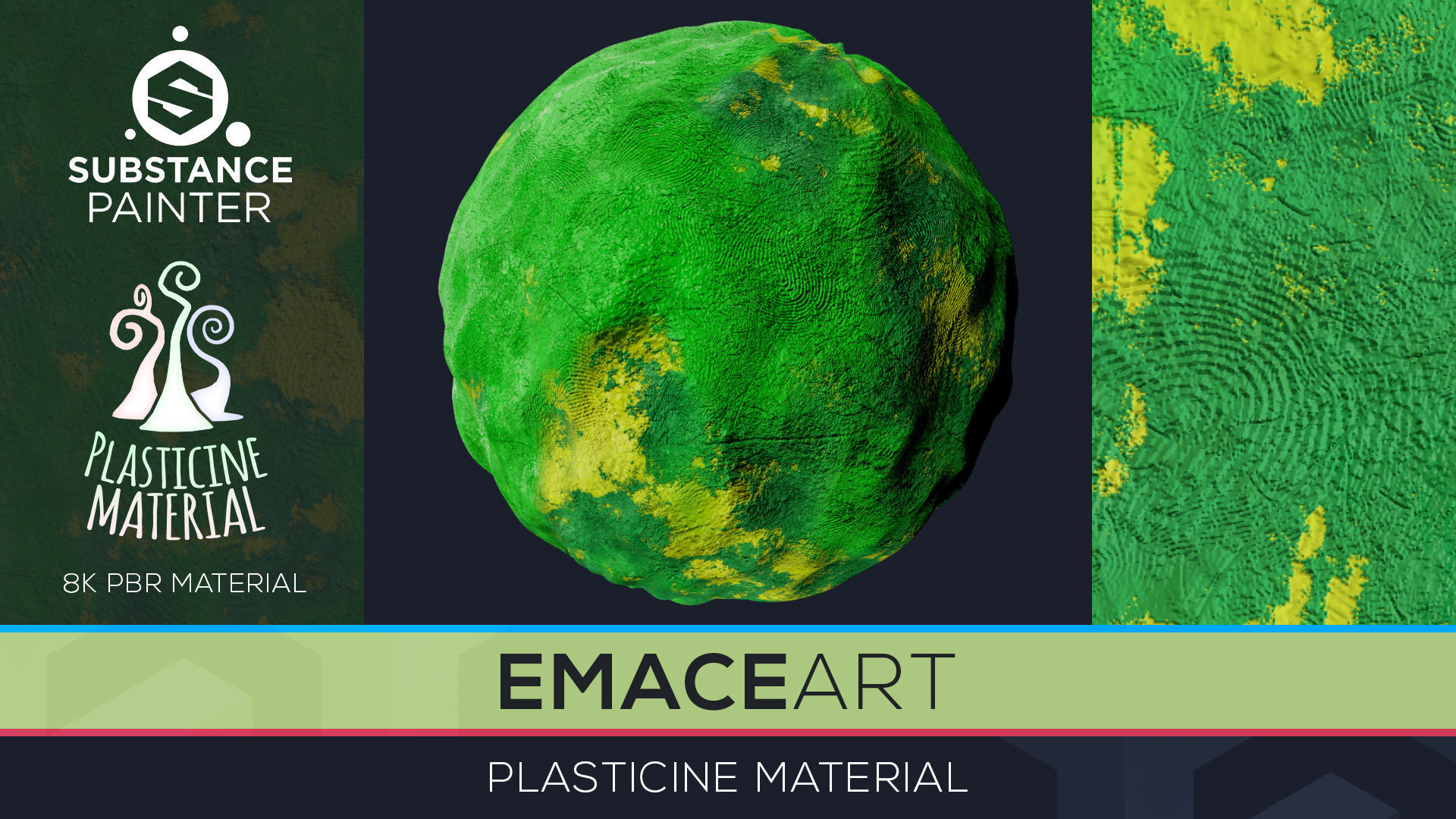 PBR Toon Plasticine sbsar Material 7 Substance Unity Material | Texture
