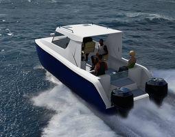 3D Boat Catamaran