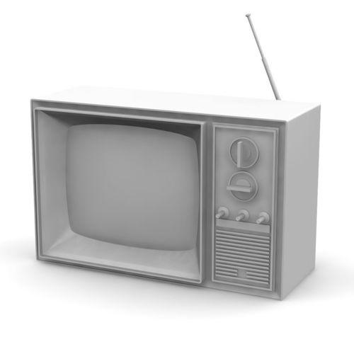 vintage television 3d model stl 1