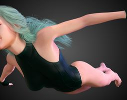 AquaGirl - Batman Beyond 3D model