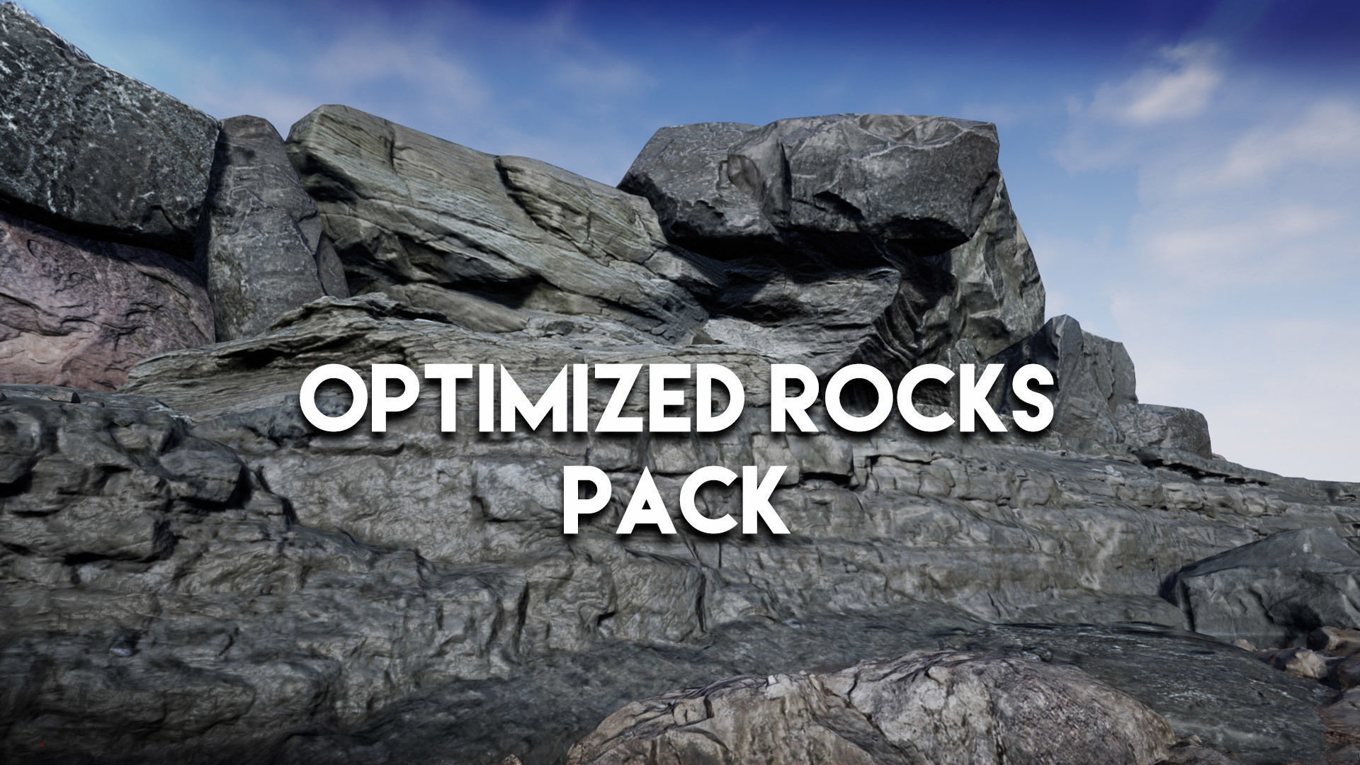 Optimized Rocks asset pack for UE4 | 3D model