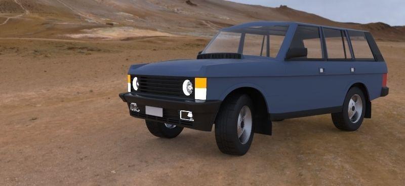 range rover 3d model free