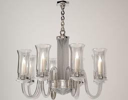 3D model Saint Louis Adiante Glass Chandelier
