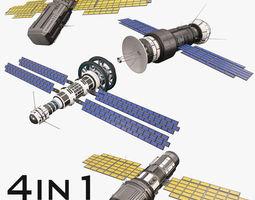 Sci Fi Satellite Collection 3D model