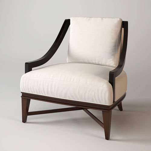 Ordinaire Baker Nob Hill Lounge Chair 3D Model