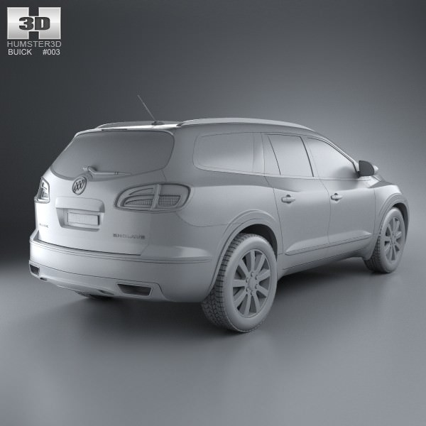 2013 Buicks: Buick Enclave 2013 3D Model MAX OBJ 3DS FBX C4D LWO LW LWS