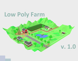 Low Poly Farm by RICHARD HIND 3D asset