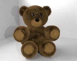 3D fur Brown Stuffed Fluffy Teddy Bear