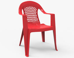 Plastic Outdoor Chair 3D asset