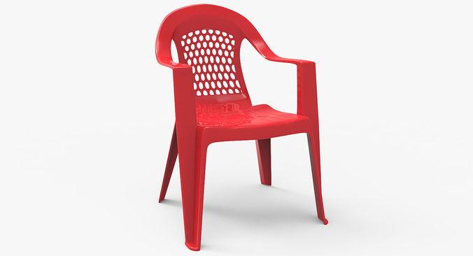 plastic outdoor chair 3d model max obj mtl fbx 1