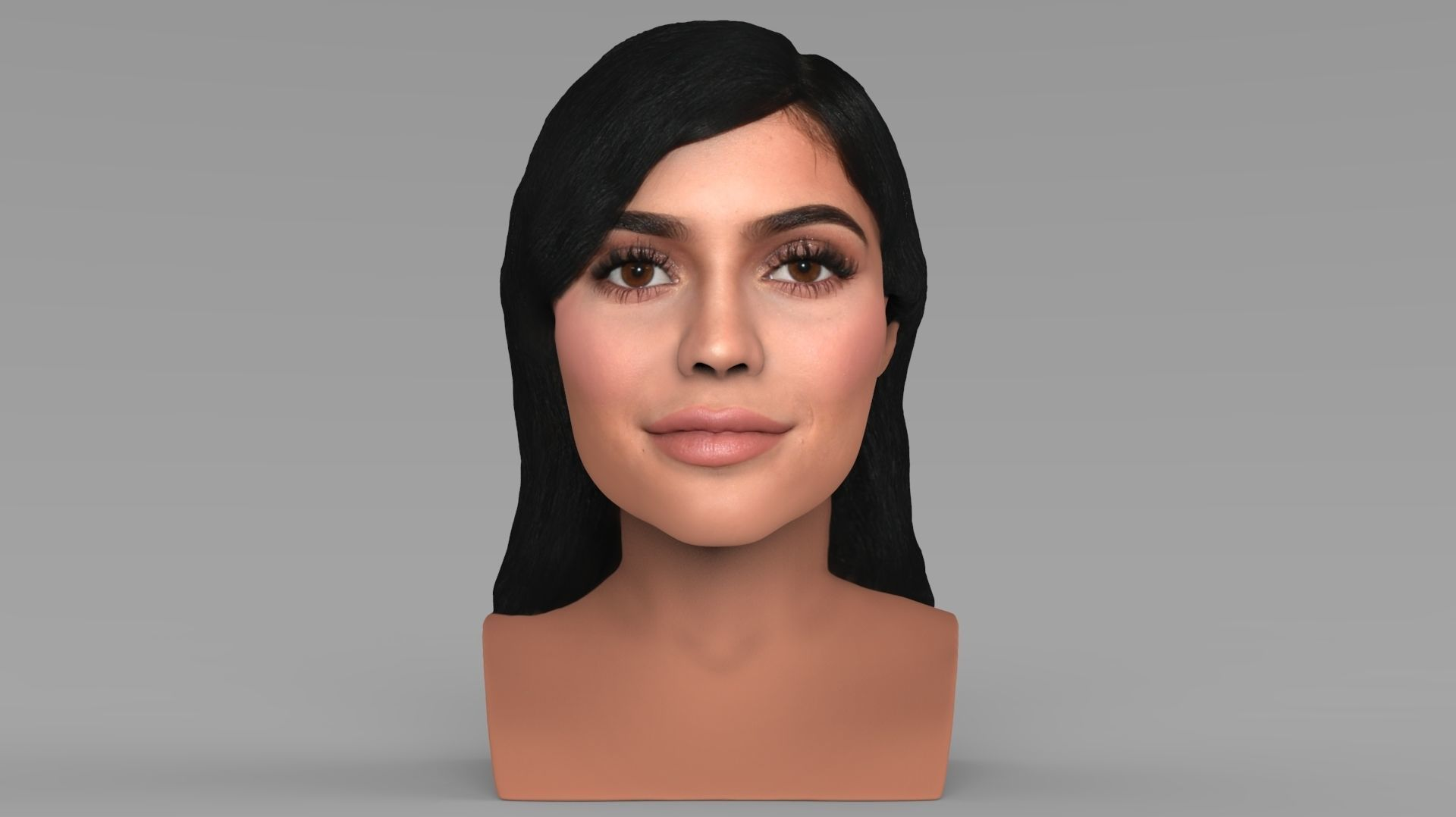 Kylie Jenner bust ready for full color 3D printing