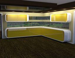 3D Modern Kitchen Furniture