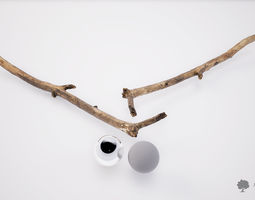 Wood stick 001 - Photogrammetry 3D model