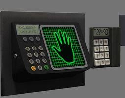 Electronic Lock Hand Scanner 3D model