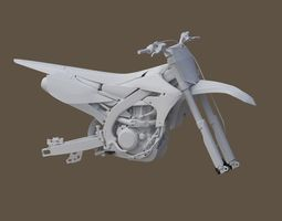 Yamaha YZF 450 Low and High poly 3D asset