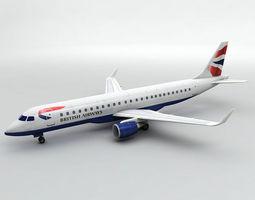 3D asset Embraer ERJ 190 - British Airways