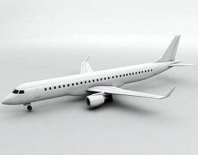 3D model Embraer ERJ 195 - Generic White