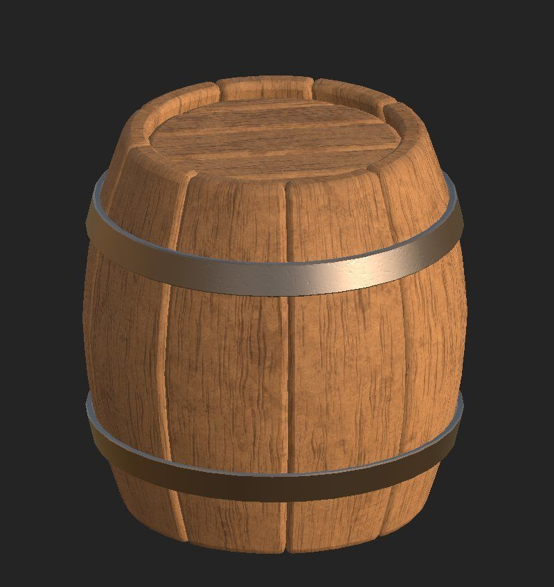 Cartoon wooden barrel 2