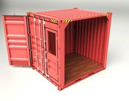 10 feet cube container 3d model