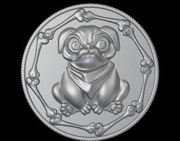 bulldog coin 3D print model