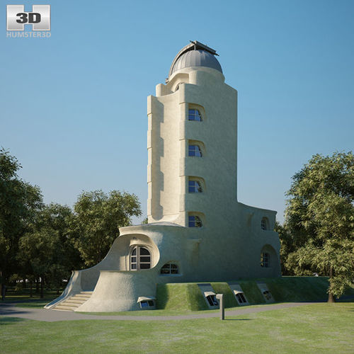 einstein tower 3d model max obj mtl 3ds fbx c4d lwo lw lws 1