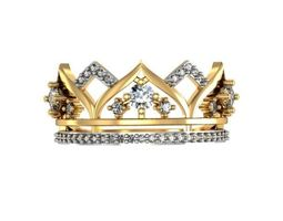 Ring Crown 3D print model precious silver