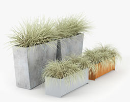 twista contemporary modern outdoor planter pot 3d model