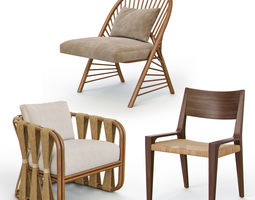 Rattan and Wicker Chairs I 3D